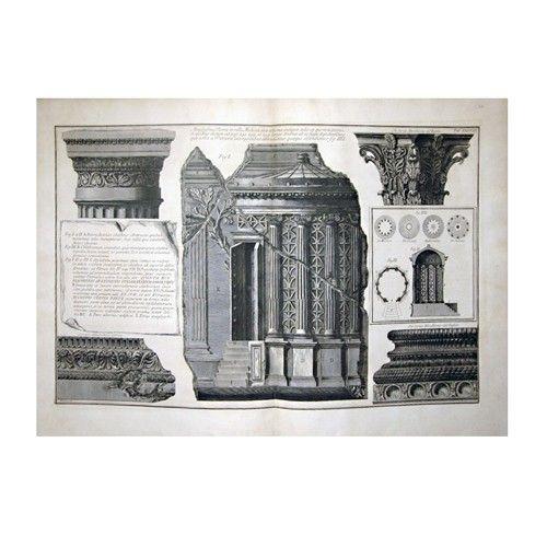 Giovanni Battista Piranesi - Vari Detagli Architettonici, 1761 - original etching - $756.