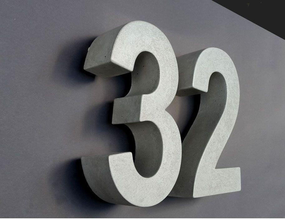 Beton Hausnummer Befestigung In Edelstahl Qualit T