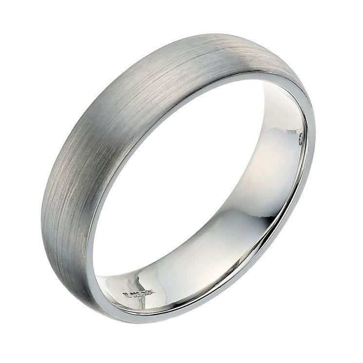 Palladium 950 5mm Satin Court Ring Product Number 9250603