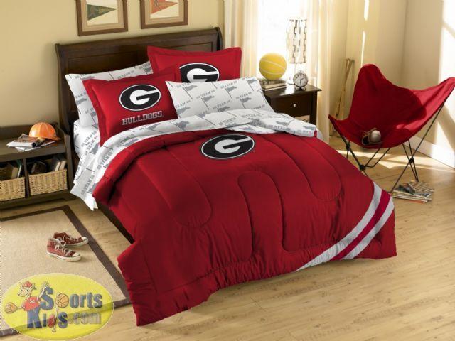 Northwest Georgia Bulldogs Twin Full Embroidered Comforter