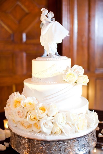 Lladro Cake Topper   ... bride\'s cake- so tasty (by Cakes by Gina ...