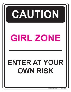 inspirational signs for girls rooms girl zone door sign