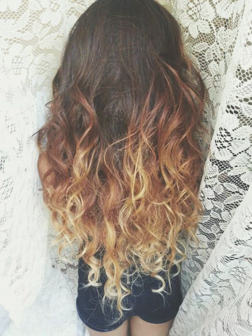 natural curly light brown highlighted hair tumblr - Google Search ...