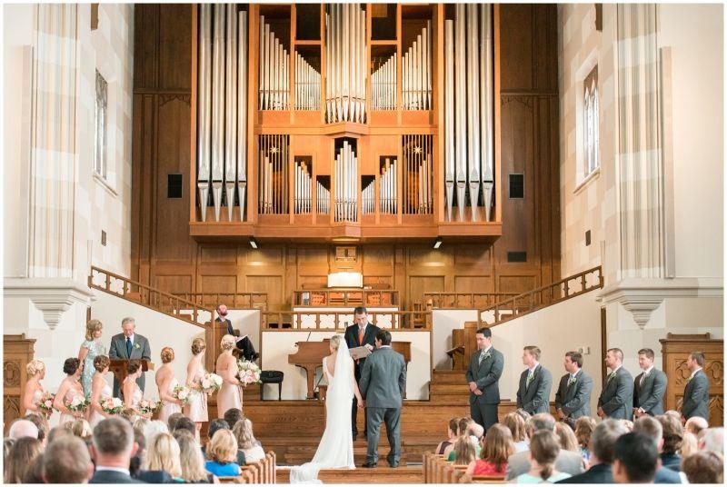 Blush Pink Chapel Wedding Ceremony