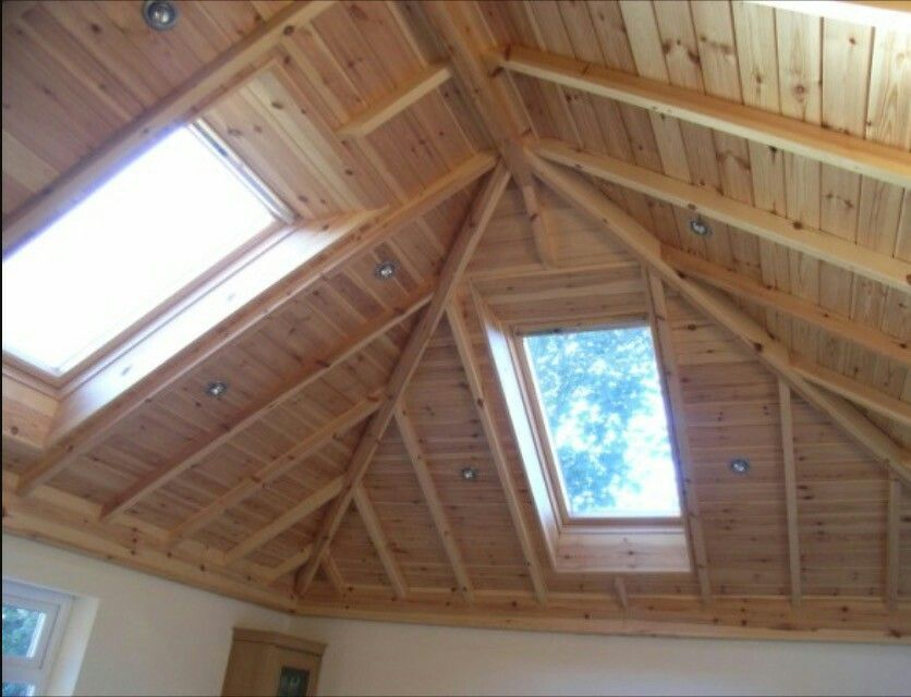 Inverted hip vaulted ceiling... millwork like this, but