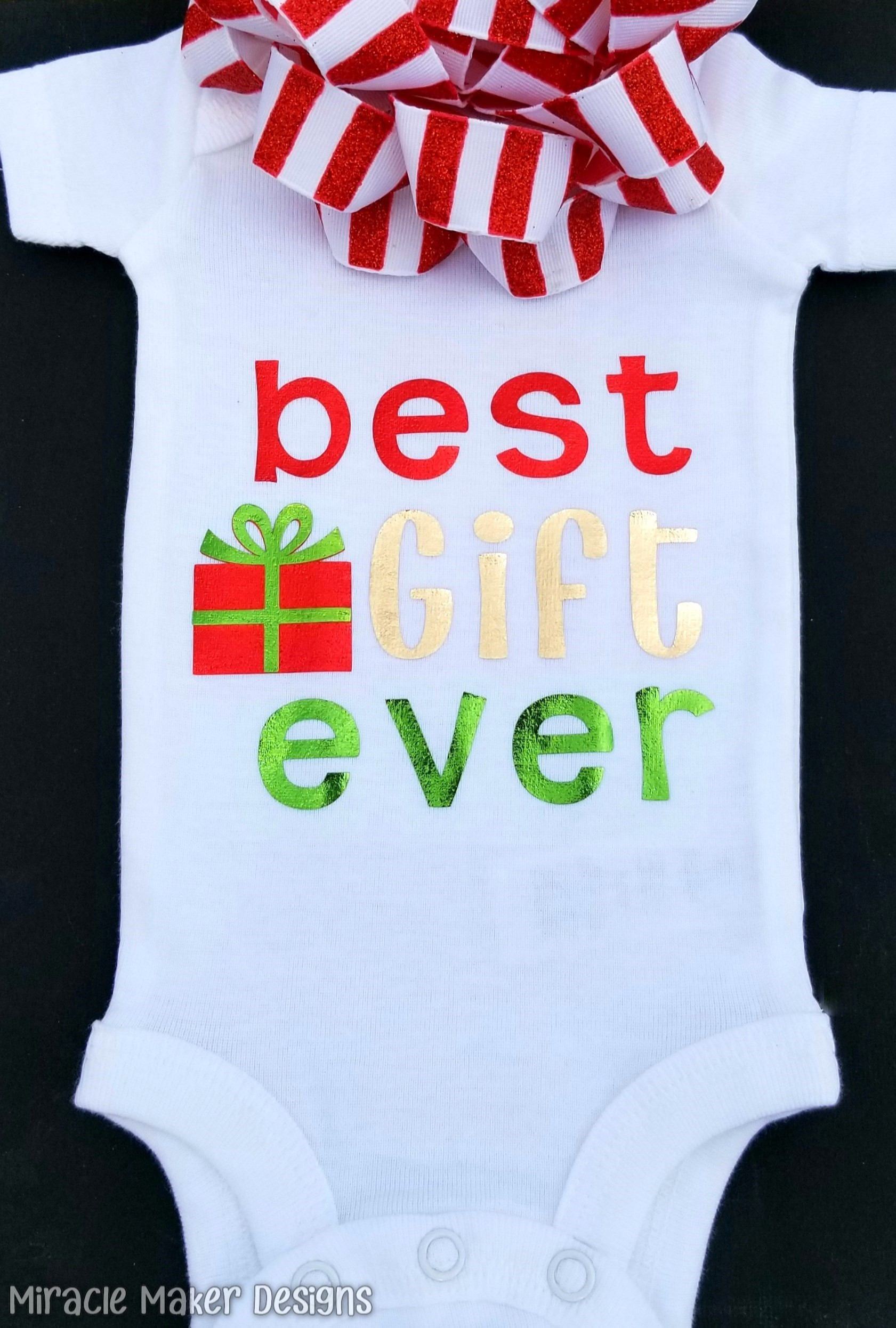 Christmas Baby Outfit Set in Best Gift Ever Print Romper Pants Hat 6-24mos New