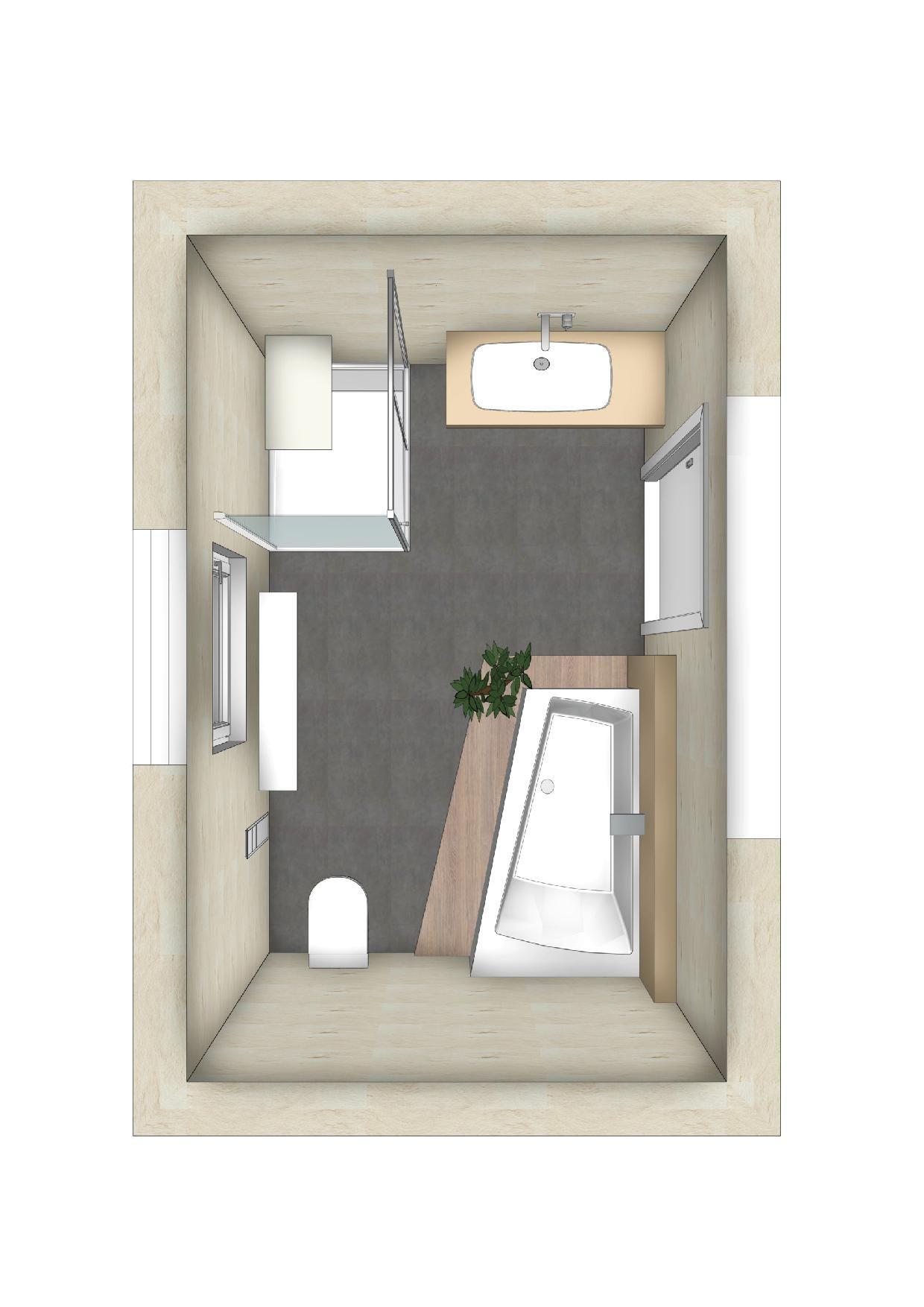Badezimmer Planung mit Raumsparbadewanne   Bad renovieren ...
