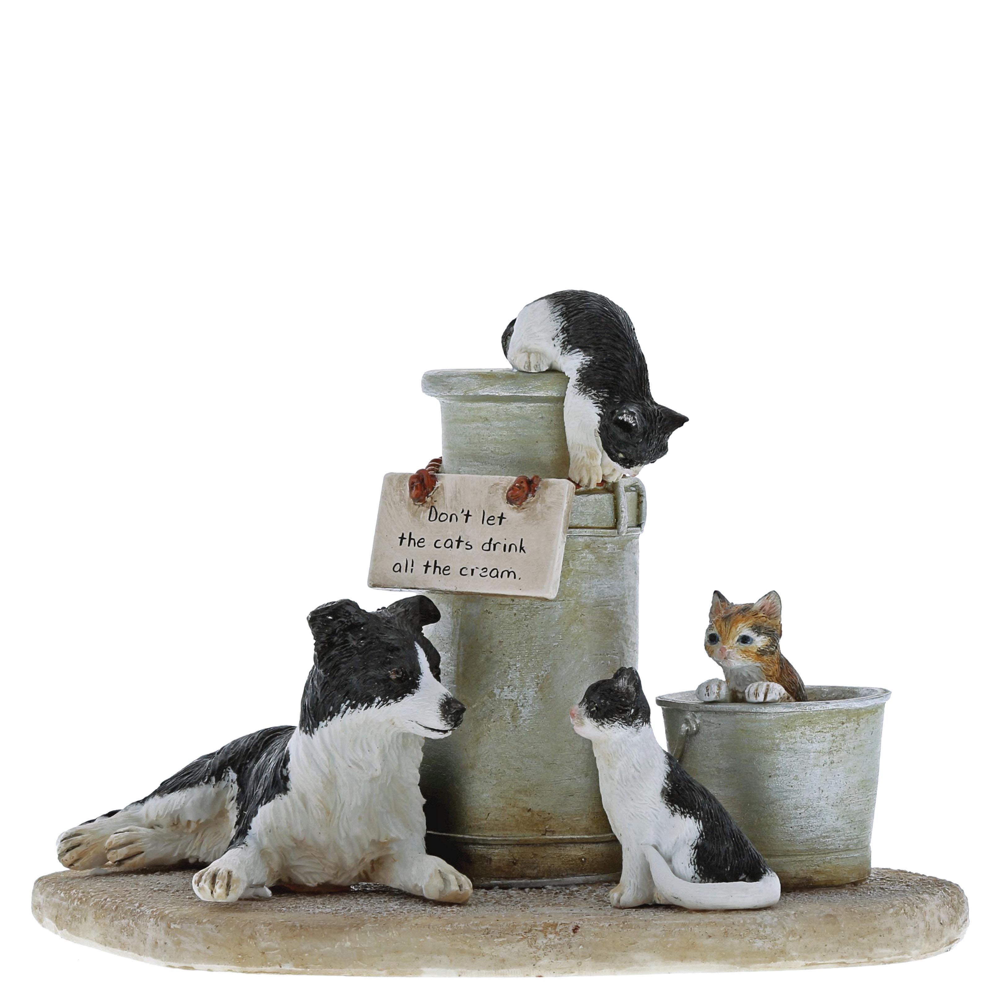Kitchy & Co Cats That Got The Cream Figurine Figurines