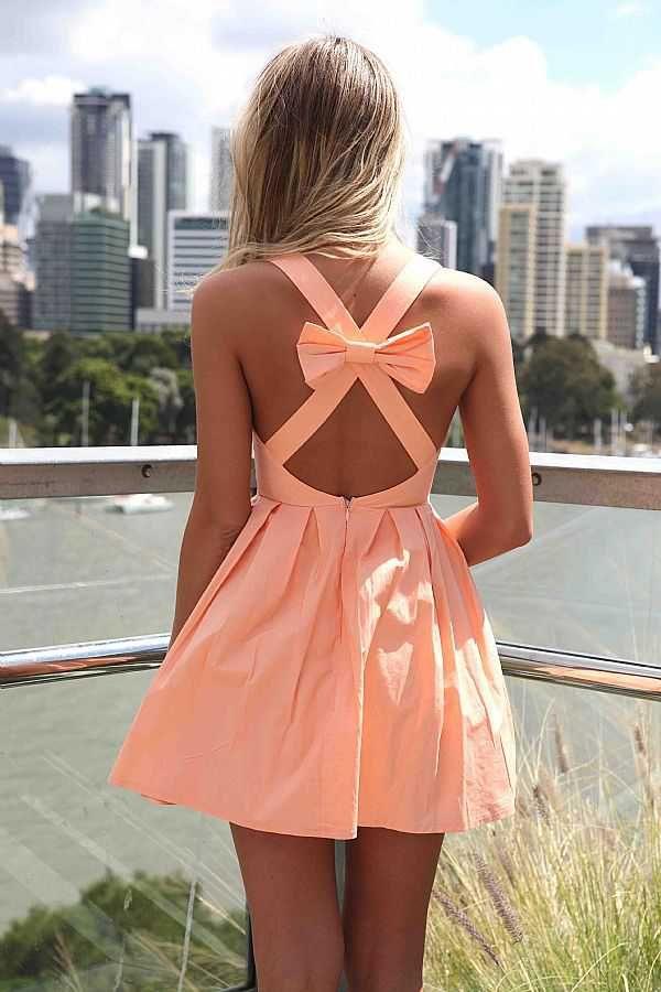 orange kleid schleife rücken   C O R A L   Pinterest   Schleife ...