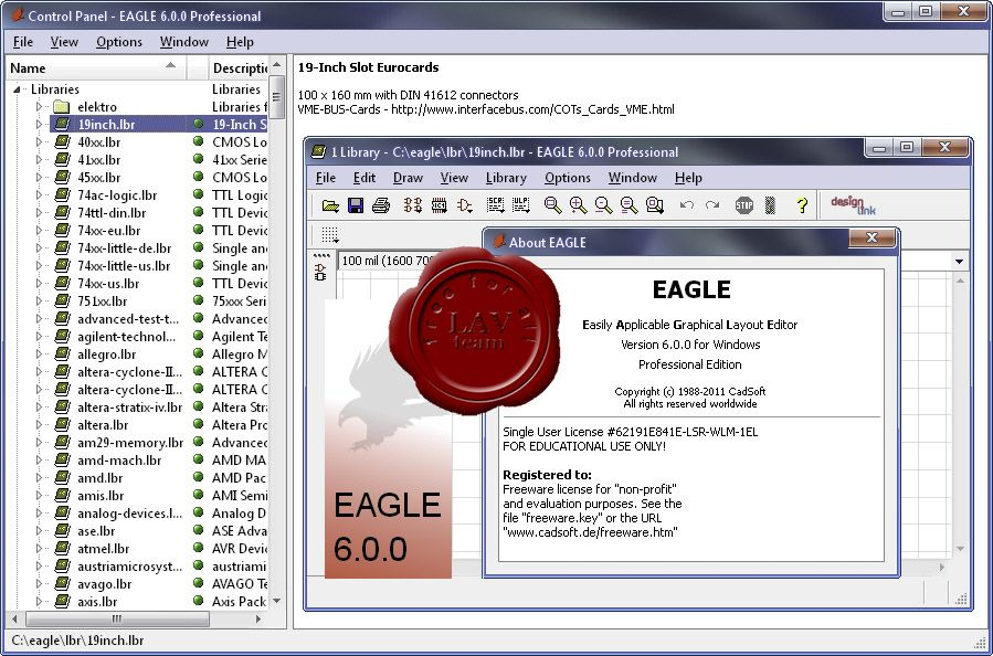 Cadsoft eagle professional 5.9.0h33tmad dog | quicriman | Pinterest ...