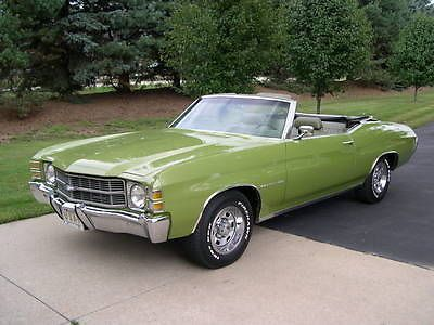 1971 Rare Original S Matching Convertible Big Block Chevelle Used Chevrolet Chevelle For Sale In Rich Chevrolet Chevelle Classic Cars Usa Chevy Muscle Cars