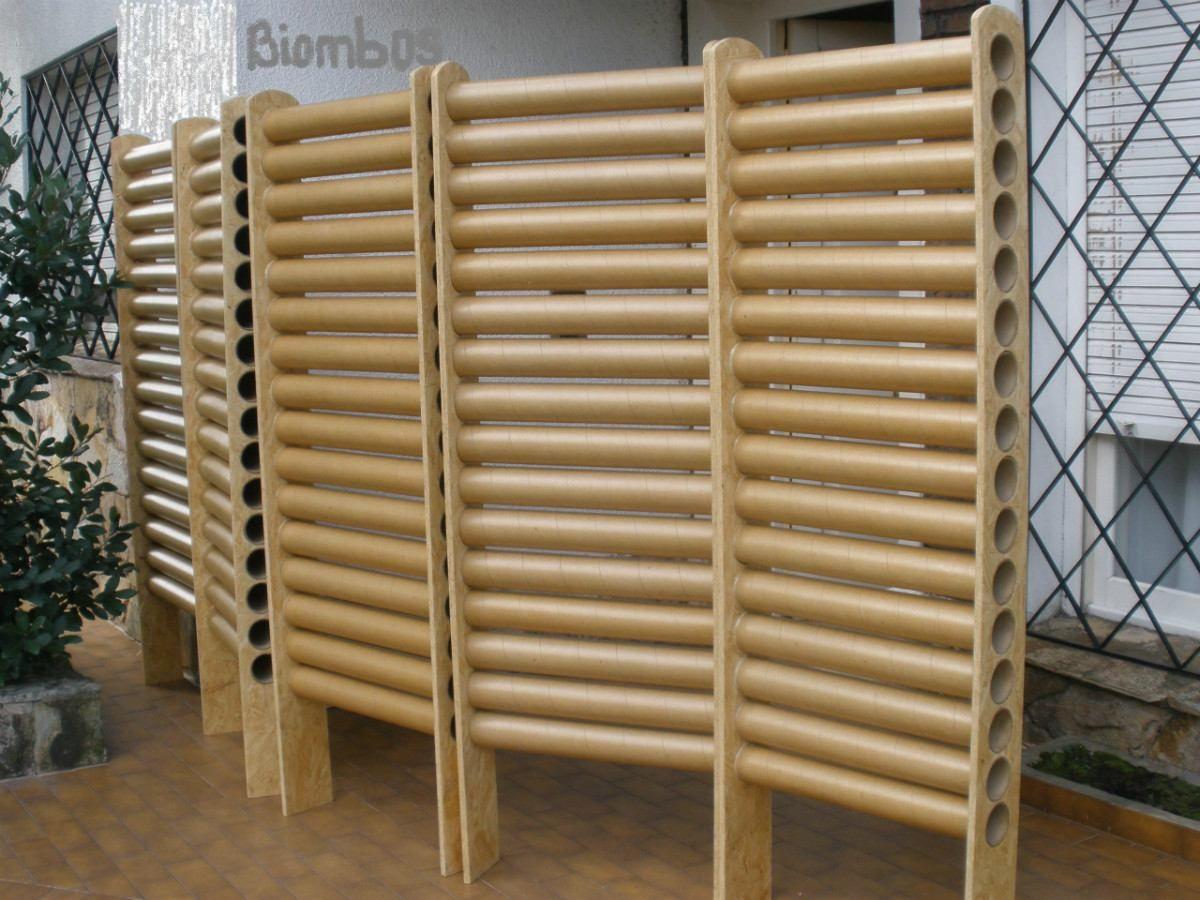 Biombo reciclado buscar con google tubos de cart n - Biombos de carton ...