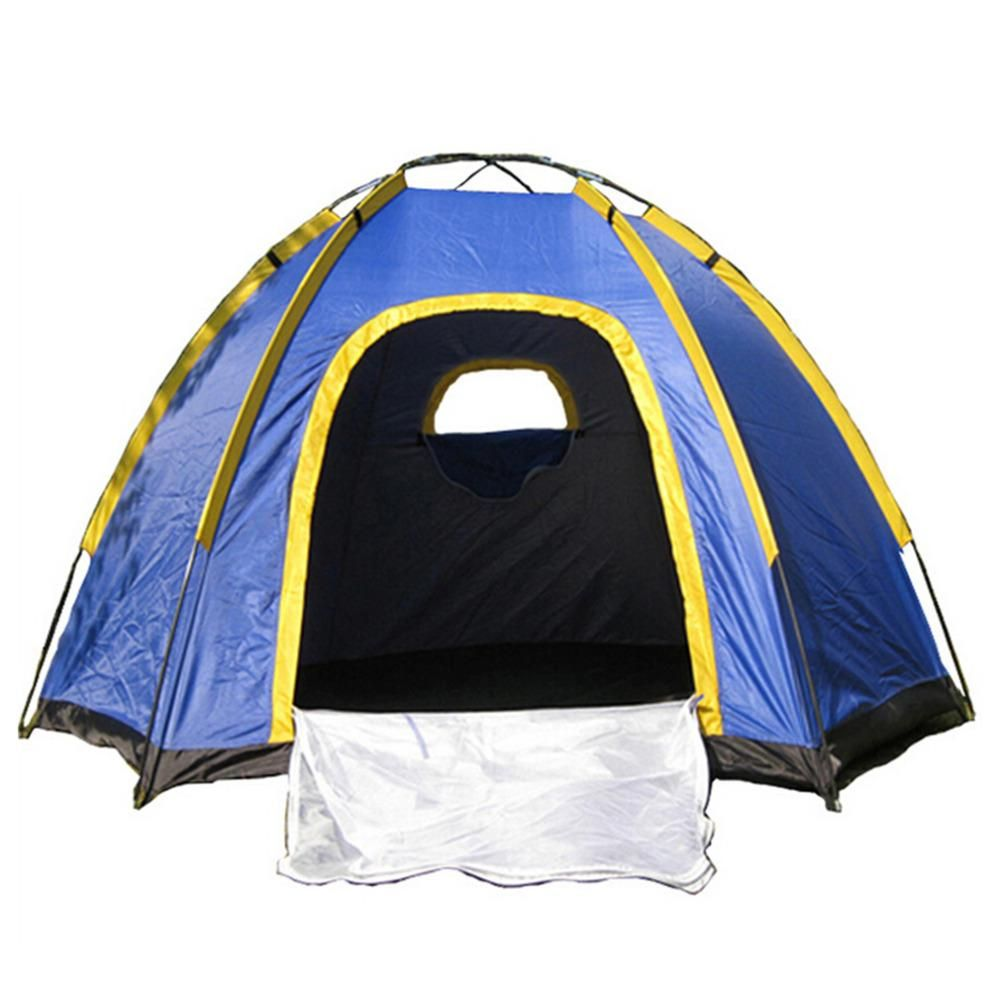 Waterproof Hexagonal Large C&ing Hiking Pop up Tent Outdoor Base C& Blue Top Quality  sc 1 st  Pinterest & Waterproof Hexagonal Large Camping Hiking Pop up Tent Outdoor Base ...