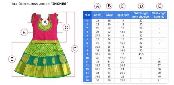3cf1cbf771 Lehenga Choli Embroidery Silk/Pattu Pavadai Kids New Born Kerala Frock for  Indian Baby Girls/Kids Et