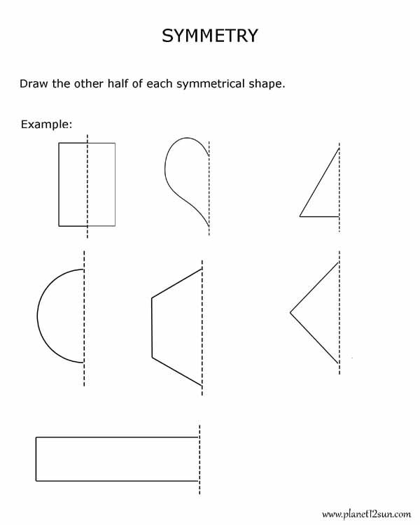 SYMMETRY- level-easy | Worksheets | Kindergarten, Kindergarten math ...