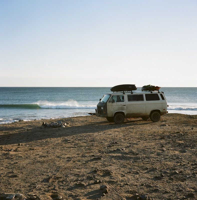 A Restless Transplant: Travels around the West Coast surfing and camping with a VW van.