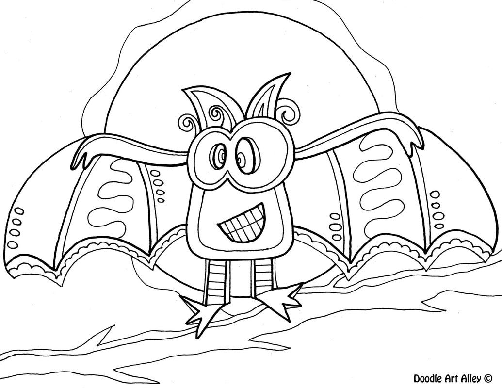Free Halloween Coloring Pages From Doodle Art Alley