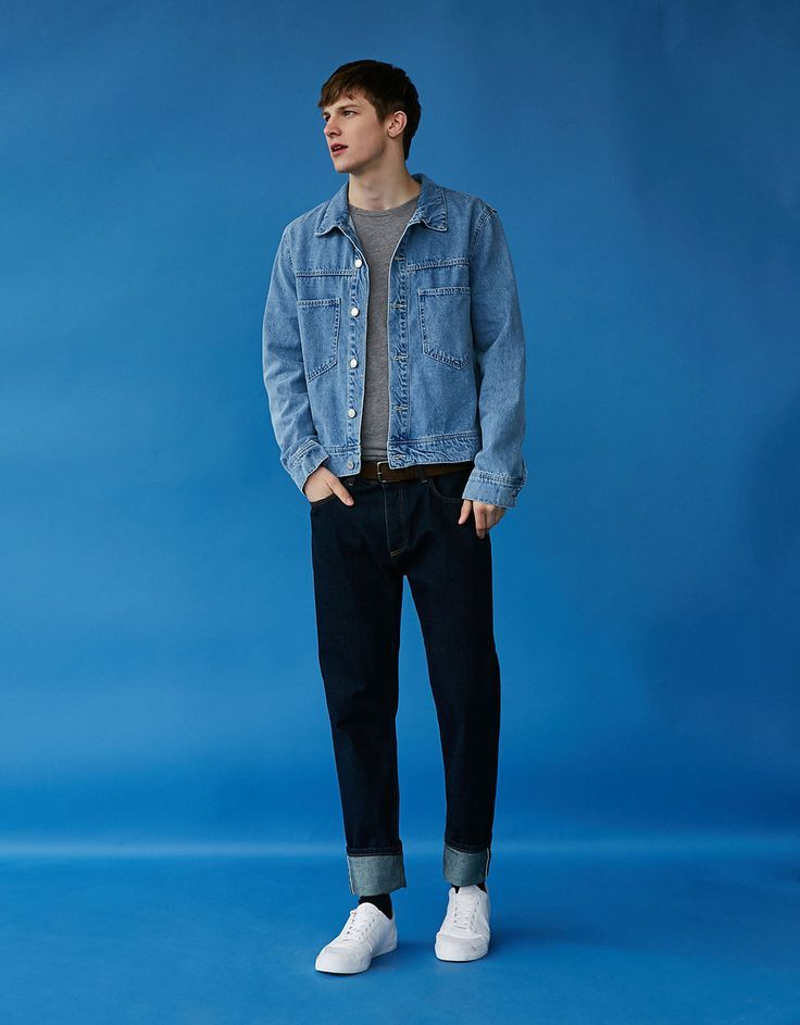 Cropped Jacket With Pockets Back To The 90 S Bershka