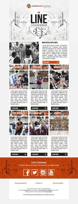 basketball company needs a cool hip email newsletter template by