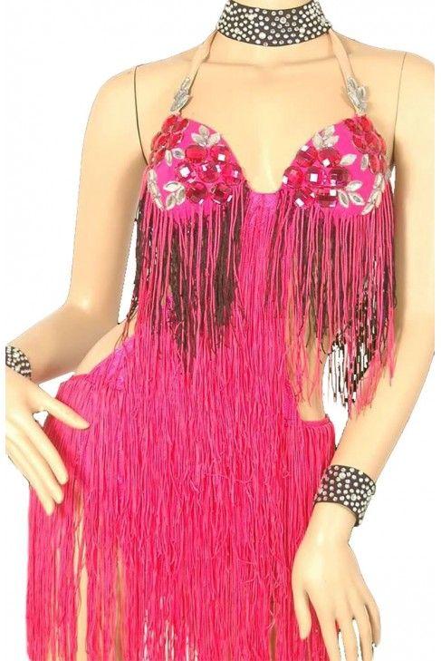 vestido de flecos para bailar salsa - Buscar con Google | Vestuarios ...