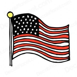 united states flag drawing