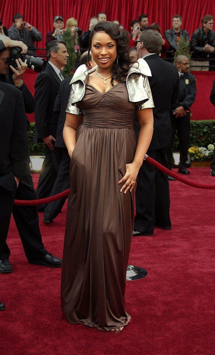 Jennifer Hudson in Oscar de la Renta, 2007 Oscars