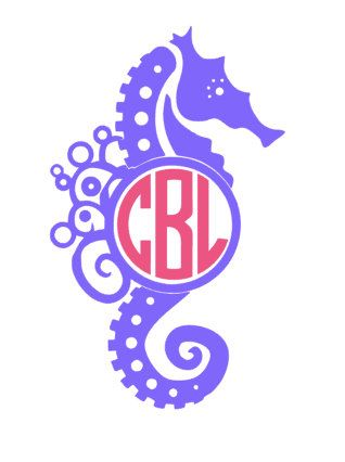 Seahorse Monogram by TheCarolinaPearl on Etsy