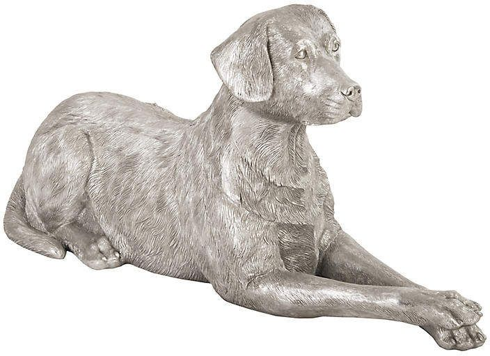 46 Sitting Labrador Figure Silver Phillips Collection