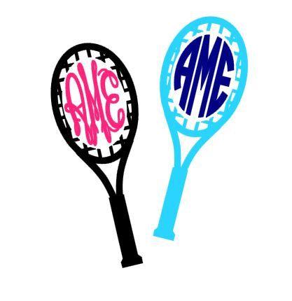 tennis racquet monogram instant download cut file svg studio3 rh pinterest com Court Tennis Racket Clip Art Cute Tennis Clip Art