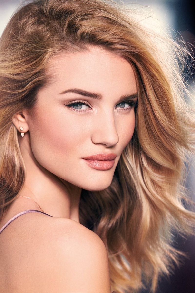 Rosie Huntington-Whiteley for Autograph makeup photoshoot