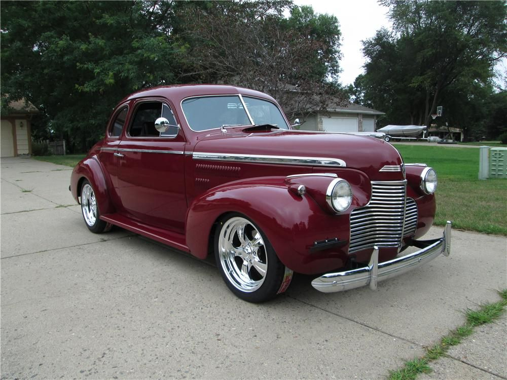 1940 Chevrolet Master Deluxe Custom 2 Door Coupe Barrett Jackson Auction Company Hot Rods Cars Muscle Chevrolet Coupe