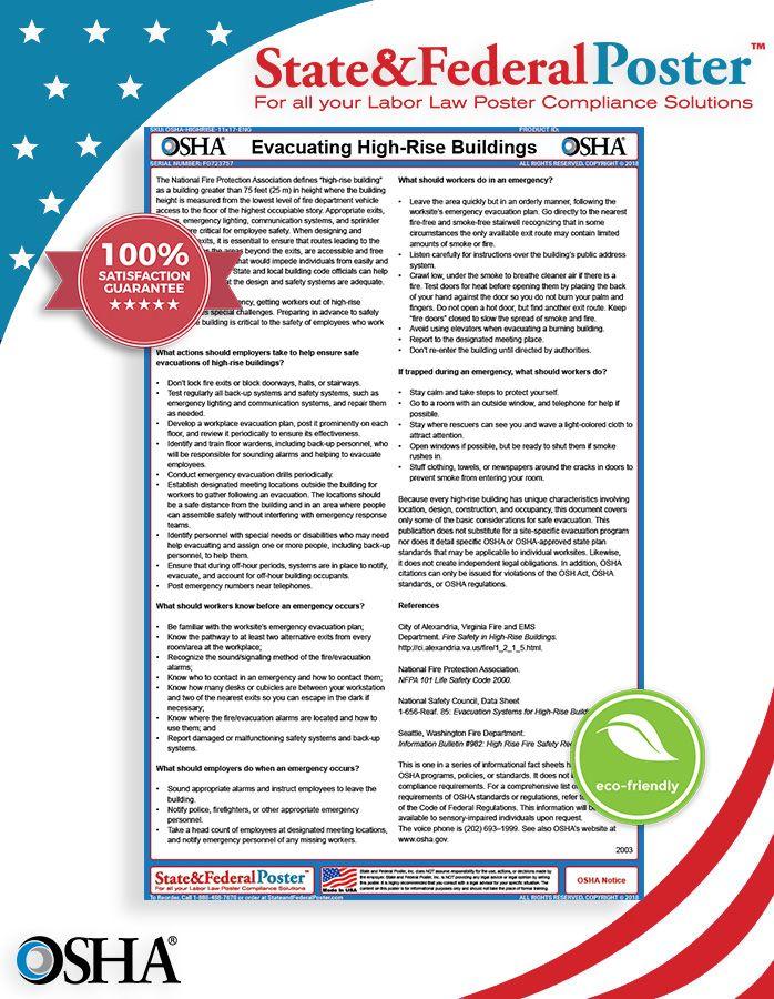 OSHA Evacuating HighRise Building Factsheet! This fact