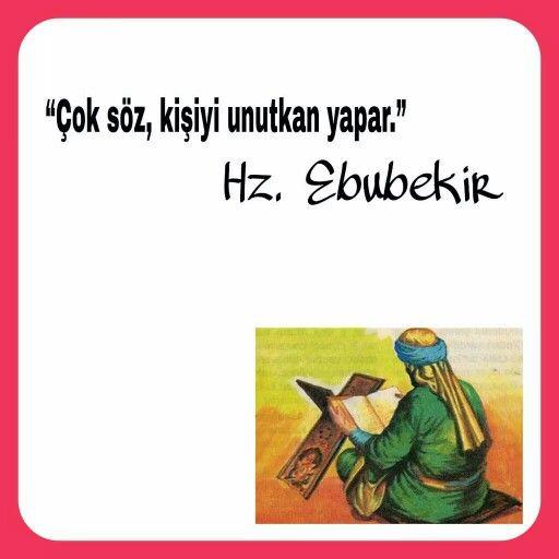 Hz Ebubekir Islamic Quotes Dualar Ozlu Sozler