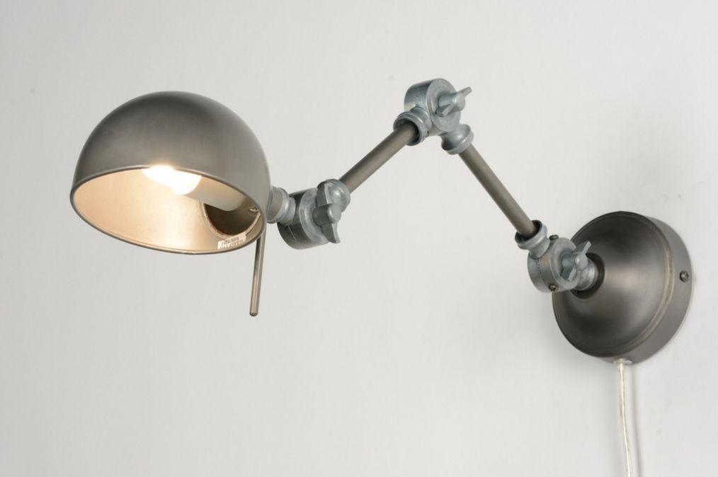 Moderne Lampen 94 : Wandleuchte 71596: modern retro industrielook metall