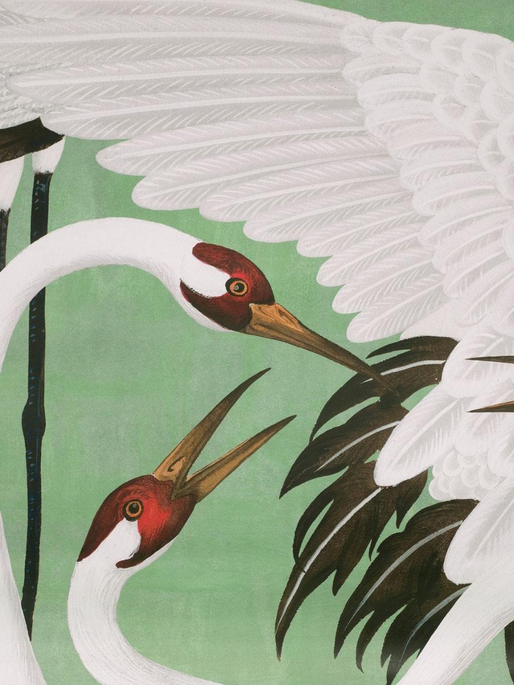 Gucci Heron printed wallpaper panels Luisaviaroma in