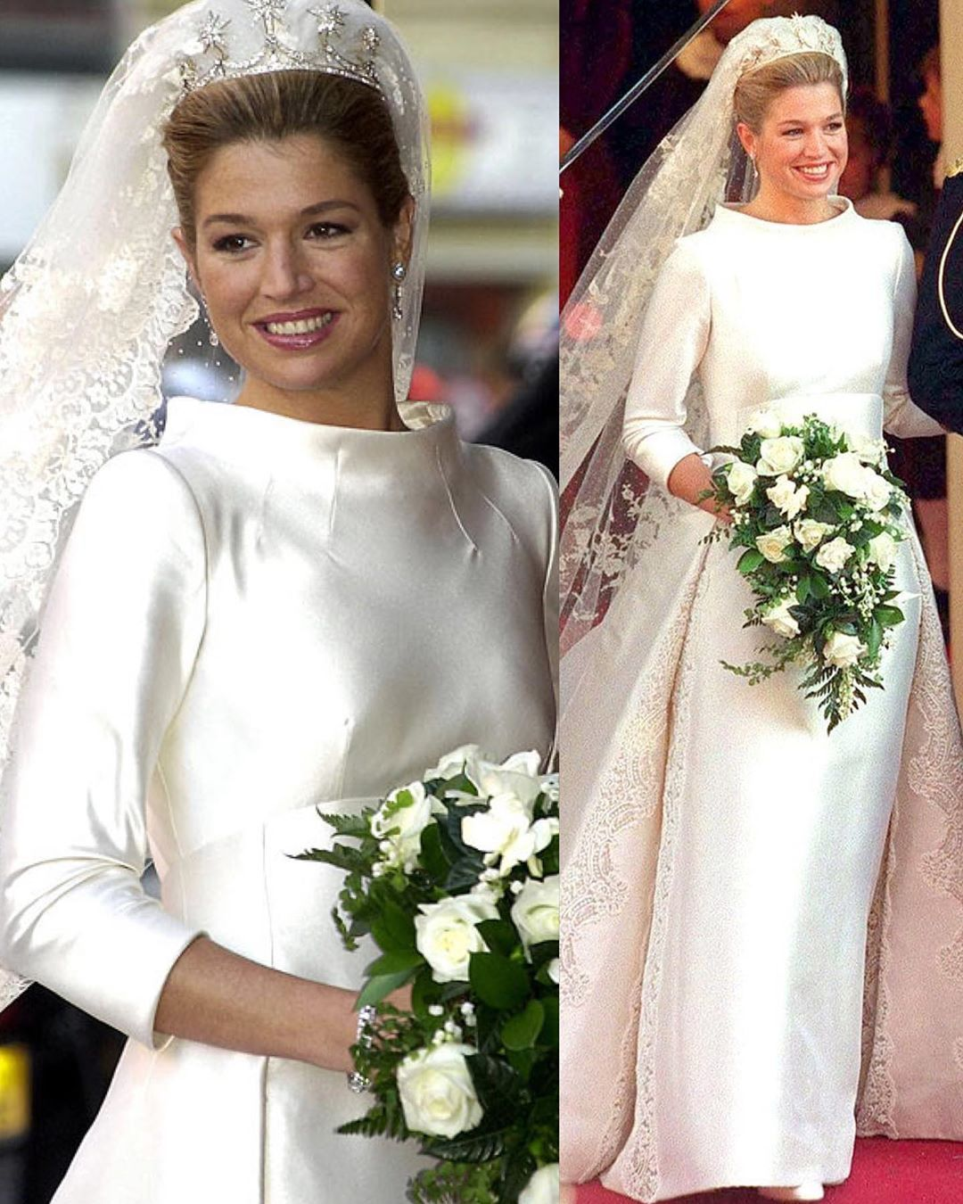 Royal Families Of Europe On Instagram Do You Like Her Wedding Gown Queen Maxima During Her Queen Wedding Dress Wedding Dresses Royal Wedding Dress [ 1350 x 1080 Pixel ]