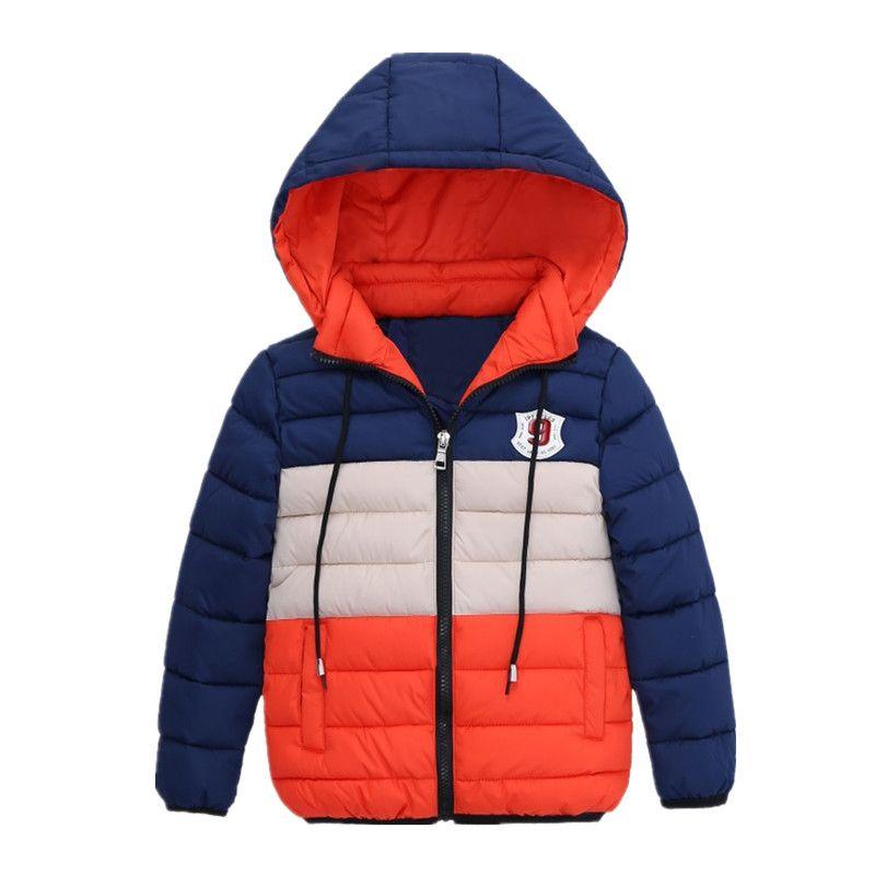 ffcfc003f888 Boys Blue winter coats   Jacket kids Zipper jackets Boys thick ...
