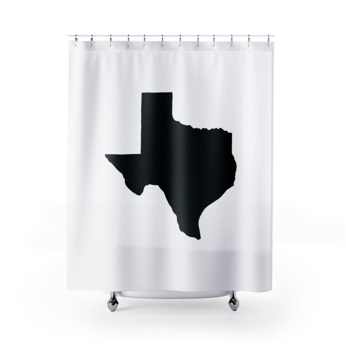 Black And White Texas Shower Curtain Black Texas State Shower