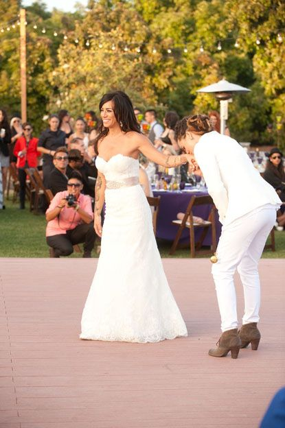 Wedding Styles House Of Ollichon Loves Real L Word Stars Whitney Mixter Sara Bettencourt