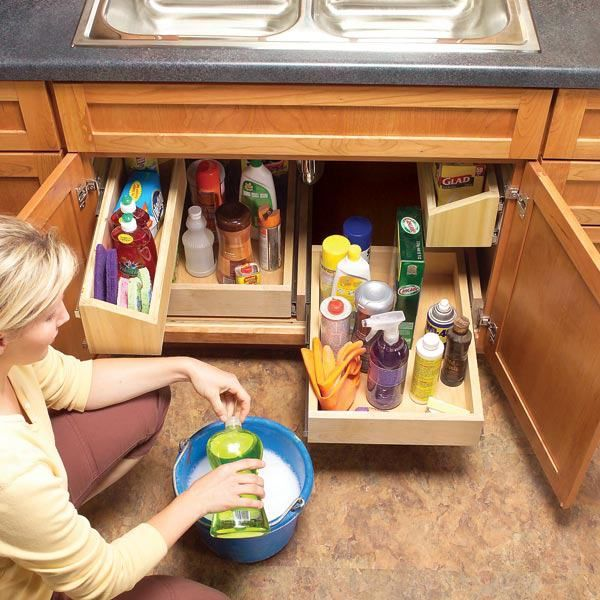 Under Kitchen Sink Storage Ideas Part - 29: Under Sink Storage: Super-Smart Ways To Organize The Space Under Sink