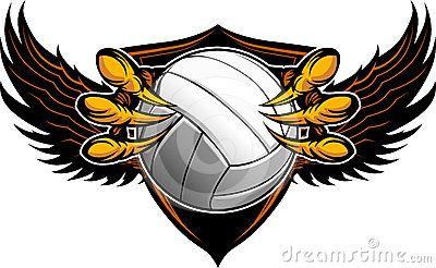Bola Volly Volleyball Logo Logo Volly Keren