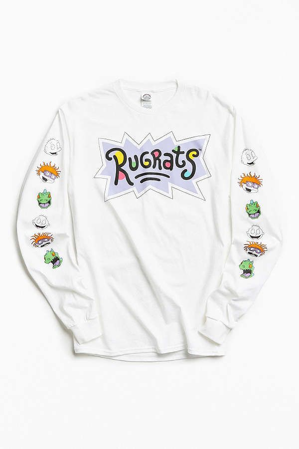 f36554dc2d316f Slide View  1  Rugrats Faces Long Sleeve Tee