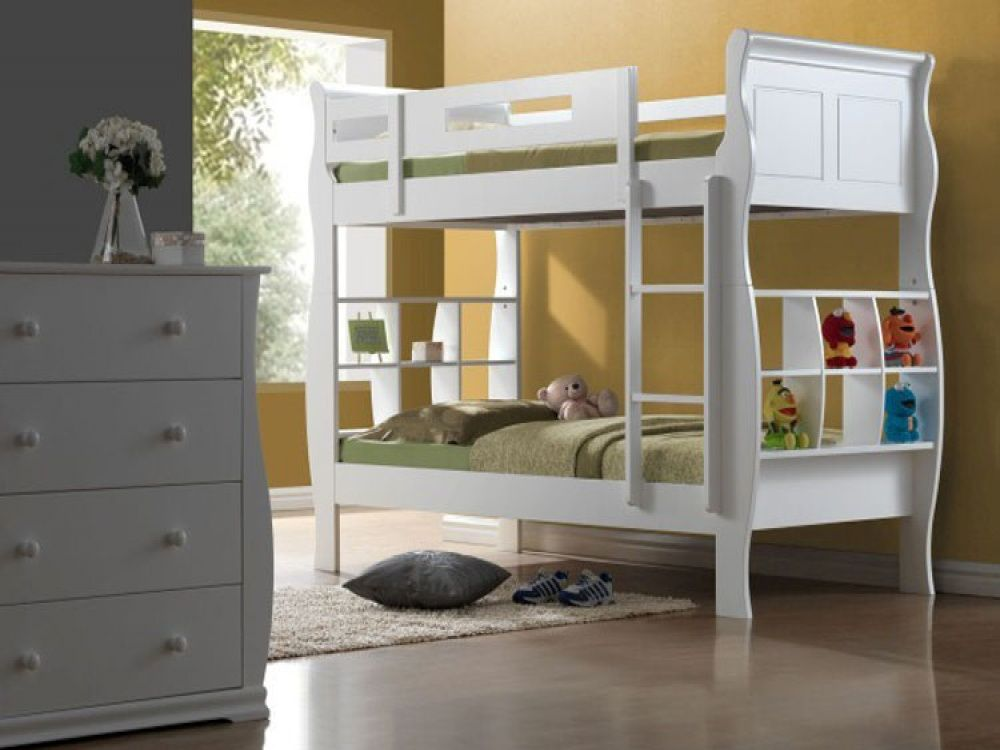 Oasis White Sleigh Bunk Bed | Kids Beds From FADS Part 73