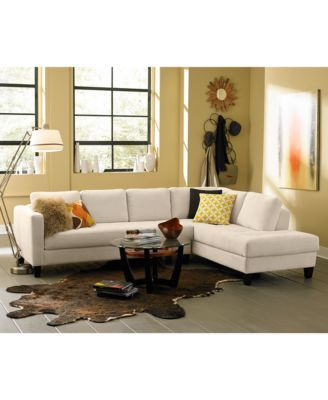 CLOSEOUT! Rylee Fabric 2 Piece Sectional Sofa, Created for Macy\u0027s