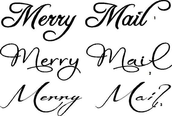 Bulk Quantity Of 10 Merry Mail Vinyl Lettering Decal 20 X 4 Pinterest Idea Vinyl Lettering Lettering