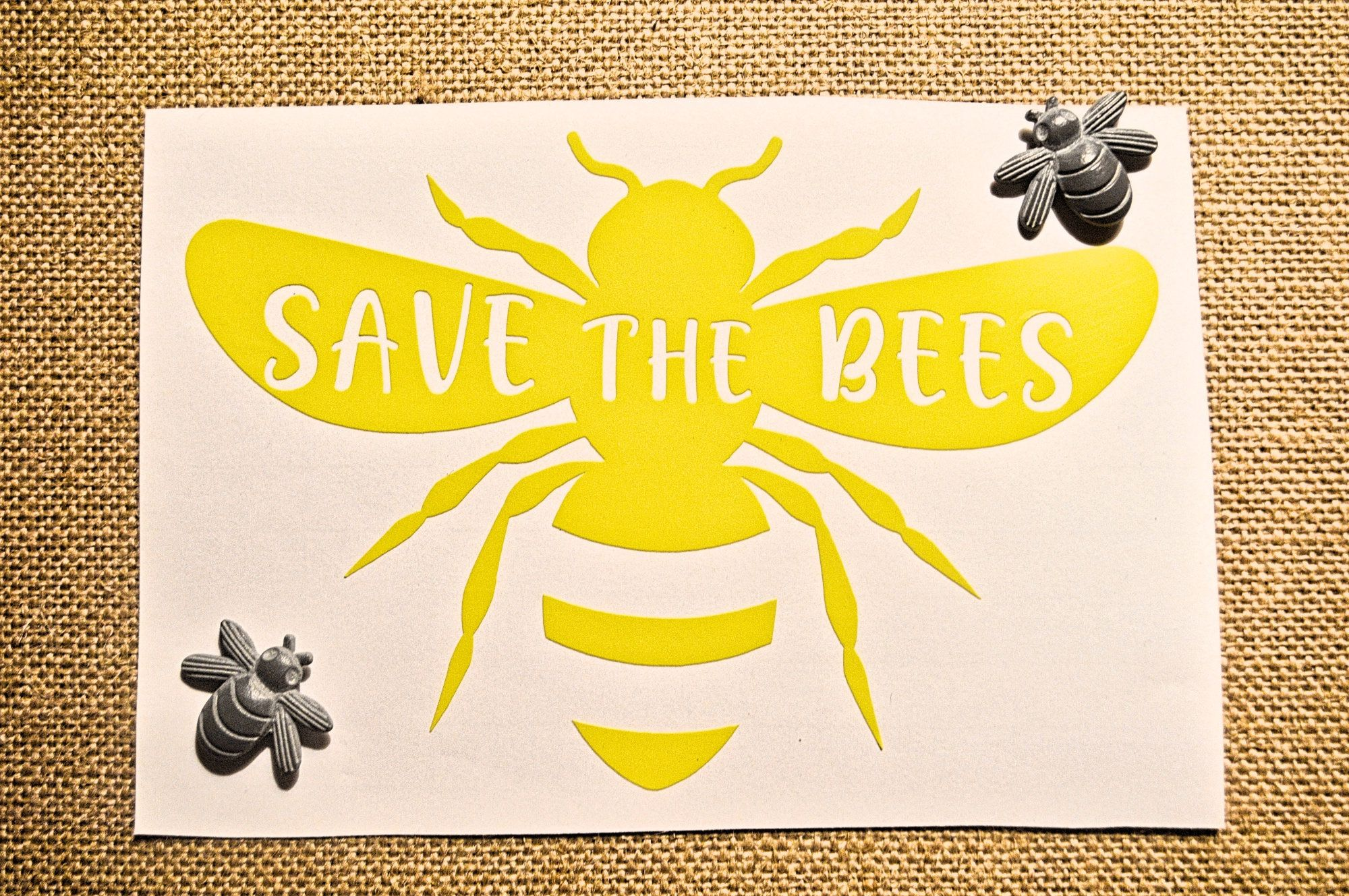 Save The Bees Vinyl Window Decal Environmental Car Sticker Save The Earth Stickers Save The Bees Laptop Stic Vinyl Window Decals Window Vinyl Bee Sticker [ 1329 x 2000 Pixel ]