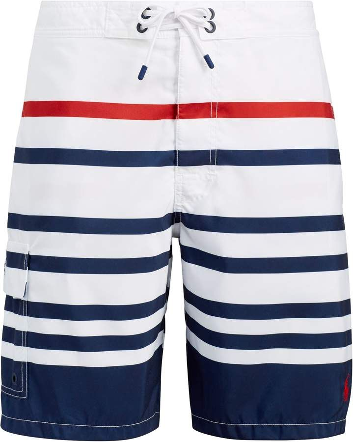 e542bb56d0 Ralph Lauren Kailua Striped Swim Trunk | Products in 2019 | Swim ...
