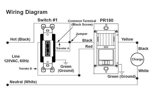 is one example of a occupancy motion sensor switch wiring diagram