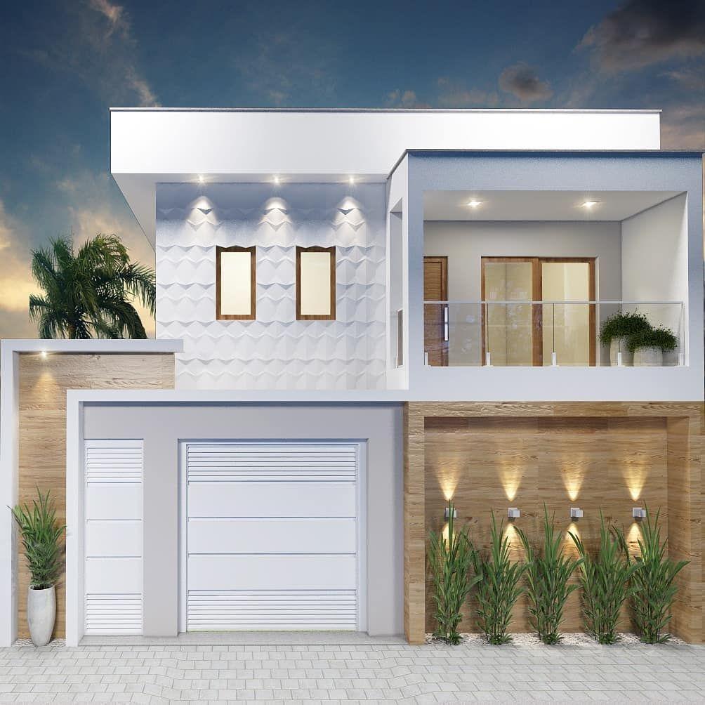 Maisons Avec Balcon 60 Projets Et Photos Incroyables En 2020 Facade Maison Architecture De Maison Facade Maison Moderne