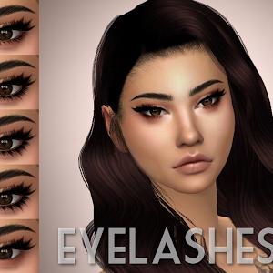 3D Eyelashes PLUMBOBJUICE Sims hair Sims 4 Sims 4 cc skin
